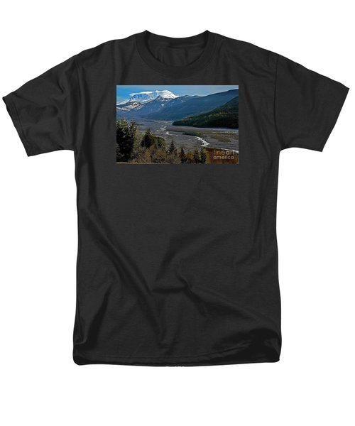 Men's T-Shirt  (Regular Fit) featuring the photograph Landscape Of Mount St. Helens Volcano Washington State Art Prints by Valerie Garner