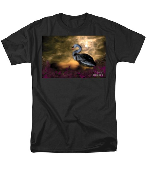 Men's T-Shirt  (Regular Fit) featuring the digital art Leda And The Swan by Rosa Cobos