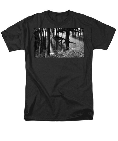 Men's T-Shirt  (Regular Fit) featuring the photograph Light Through The Trees by Don Schwartz