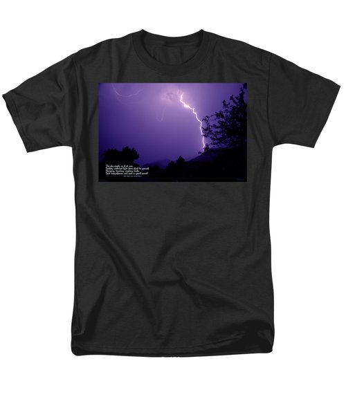 Lightning Over The Rogue Valley Men's T-Shirt  (Regular Fit) by Mick Anderson