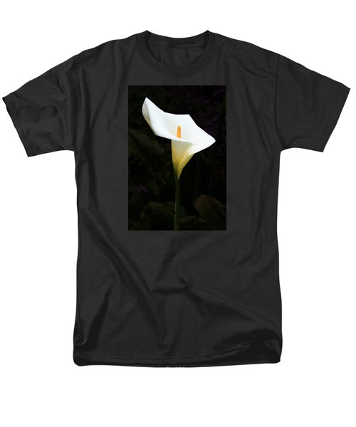 Lily On Black Men's T-Shirt  (Regular Fit) by Nareeta Martin