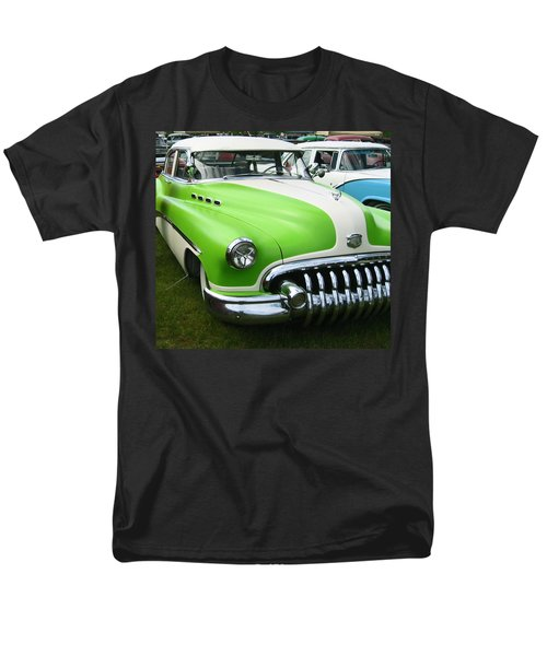 Men's T-Shirt  (Regular Fit) featuring the photograph Lime Green 1950s Buick by Kym Backland