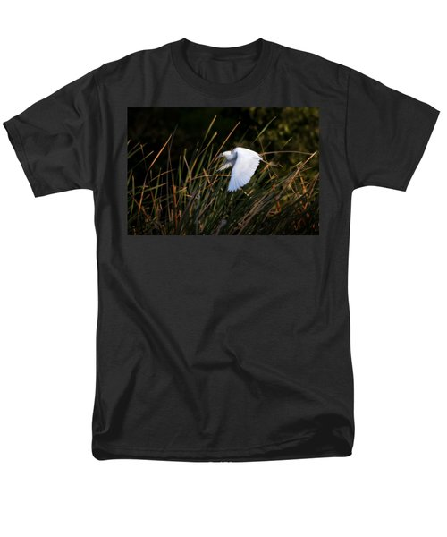 Men's T-Shirt  (Regular Fit) featuring the photograph Little Blue Heron Before The Change To Blue by Steven Sparks