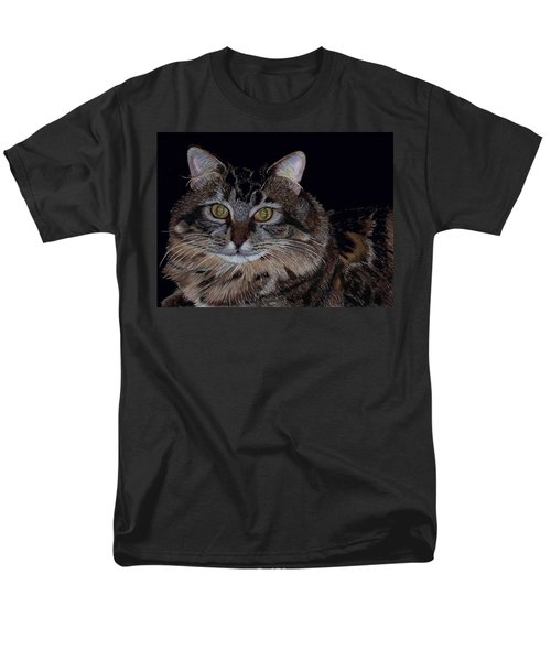 Little Girl - Maine Coon Cat Painting Men's T-Shirt  (Regular Fit) by Patricia Barmatz