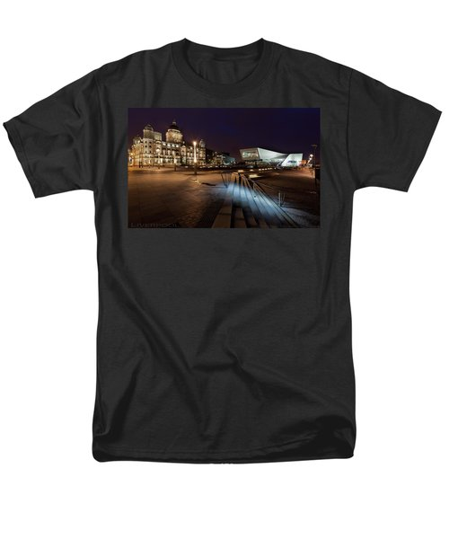 Men's T-Shirt  (Regular Fit) featuring the photograph Liverpool - The Old And The New  by Beverly Cash