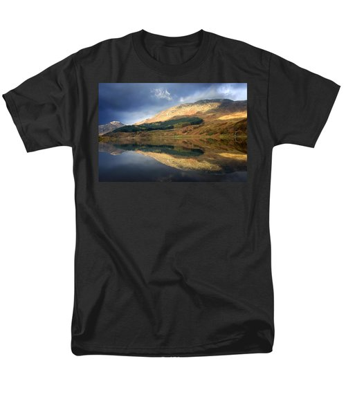 Loch Lobhair, Scotland Men's T-Shirt  (Regular Fit) by John Short