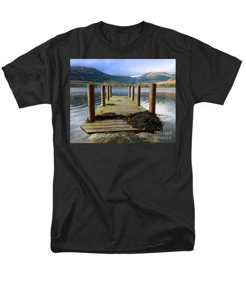 Men's T-Shirt  (Regular Fit) featuring the photograph Long Walk Off A Short Pier by Lynn Bolt