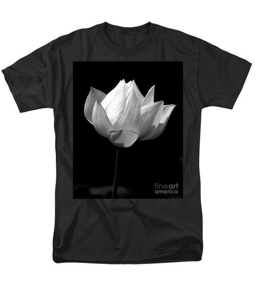 Lotus Bw Men's T-Shirt  (Regular Fit) by Mark Gilman