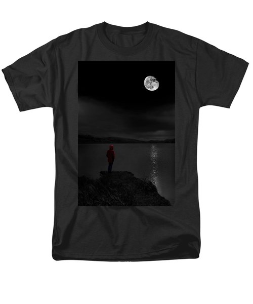 Men's T-Shirt  (Regular Fit) featuring the photograph Lunatic In Red by Meirion Matthias