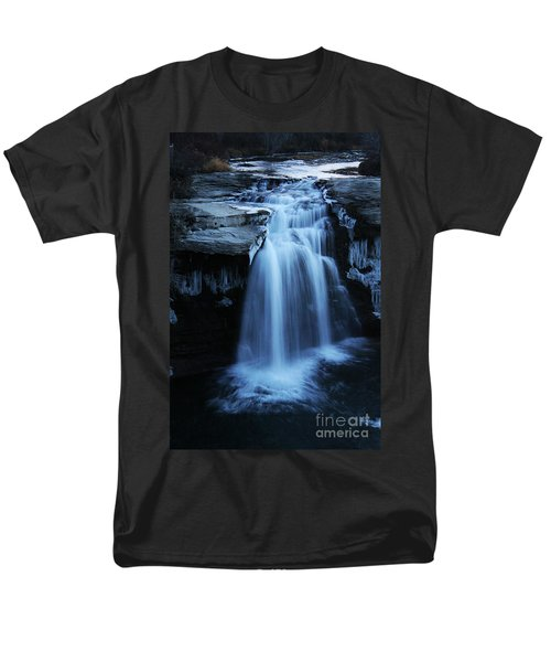 Men's T-Shirt  (Regular Fit) featuring the photograph Lundbreck Falls by Alyce Taylor