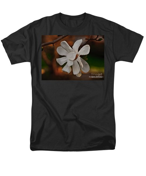 Men's T-Shirt  (Regular Fit) featuring the photograph Magnolia Bloom by Barbara McMahon