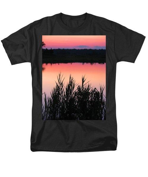 Men's T-Shirt  (Regular Fit) featuring the photograph Marsh Sunset by Clara Sue Beym