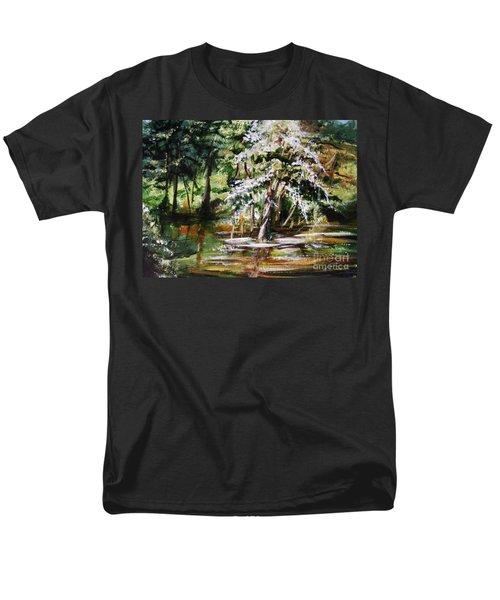 Men's T-Shirt  (Regular Fit) featuring the painting Marsh Tide by Karen  Ferrand Carroll