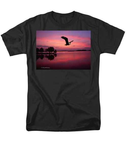 Men's T-Shirt  (Regular Fit) featuring the photograph Mauve Sundown Eagle  by Randall Branham
