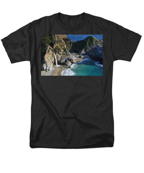 Men's T-Shirt  (Regular Fit) featuring the photograph Mcway Falls by Lynn Bauer
