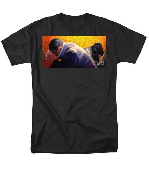 Men's T-Shirt  (Regular Fit) featuring the painting Men Do Pray by Vannetta Ferguson