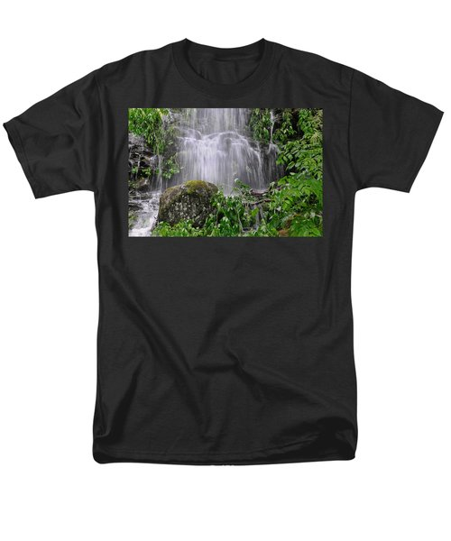 Mendenhall Glacier Flooding Waterfall Juneau Alaska 1542 Men's T-Shirt  (Regular Fit) by Michael Bessler