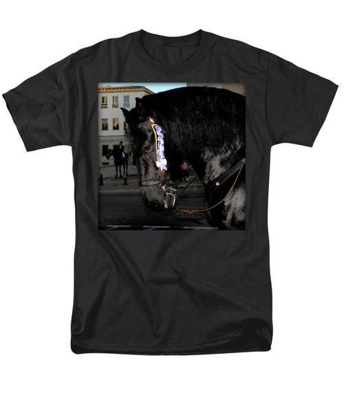 Men's T-Shirt  (Regular Fit) featuring the photograph Menorca Horse 2 by Pedro Cardona