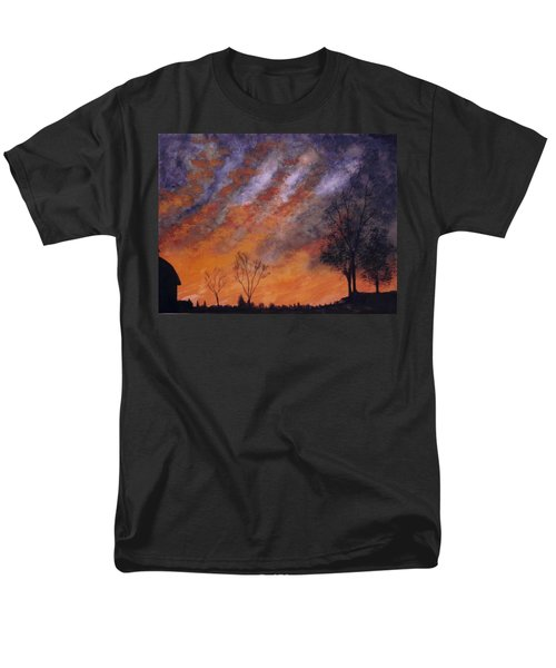 Men's T-Shirt  (Regular Fit) featuring the painting Midwest Sunset by Stacy C Bottoms