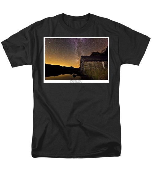 Men's T-Shirt  (Regular Fit) featuring the photograph Milky Way Above The Old Boathouse by Beverly Cash