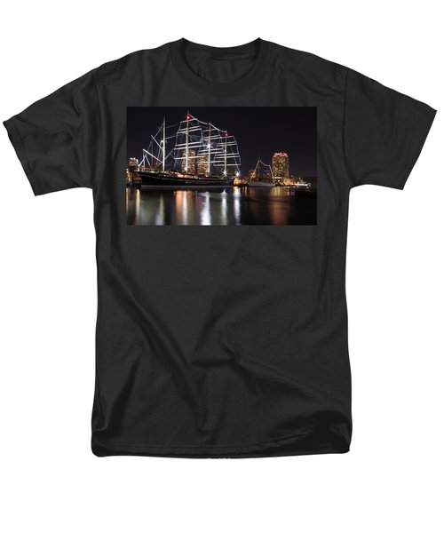 Men's T-Shirt  (Regular Fit) featuring the photograph Missoula At Nighttime by Alice Gipson