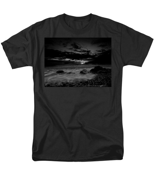 Men's T-Shirt  (Regular Fit) featuring the photograph Monochrome Sunset  by Beverly Cash