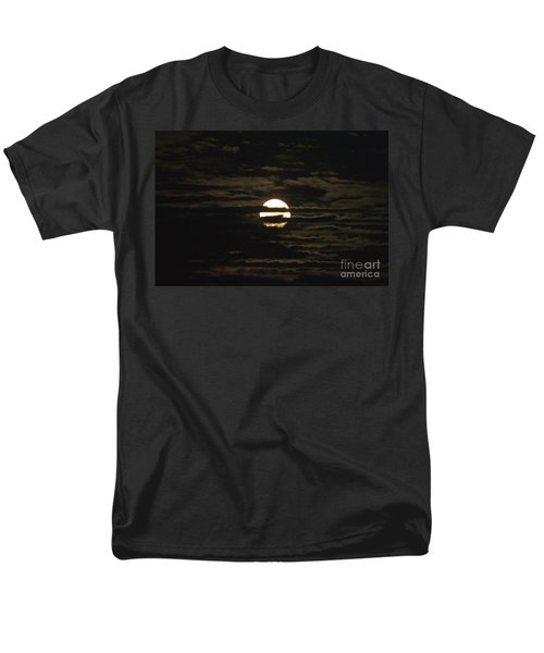 Men's T-Shirt  (Regular Fit) featuring the photograph Moon Behind The Clouds by William Norton
