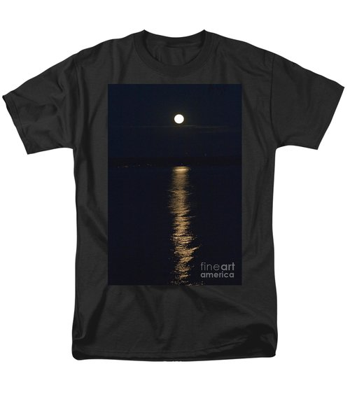 Men's T-Shirt  (Regular Fit) featuring the photograph Moon Over Seneca Lake by William Norton