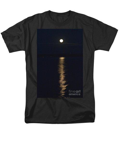 Moon Over Seneca Lake Men's T-Shirt  (Regular Fit) by William Norton