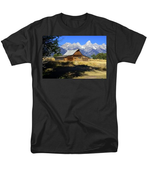 Men's T-Shirt  (Regular Fit) featuring the photograph Mormon Row Barn by Marty Koch