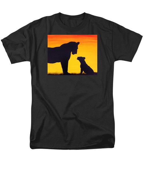 Men's T-Shirt  (Regular Fit) featuring the painting Mother Africa 3 by Michael Cross
