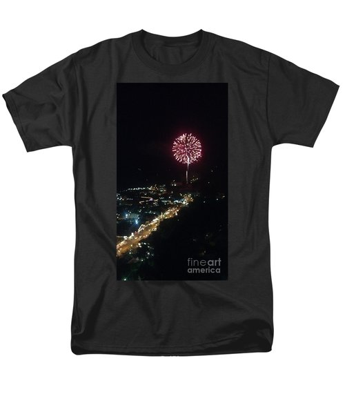 Mountain Fireworks Men's T-Shirt  (Regular Fit) by Janice Spivey