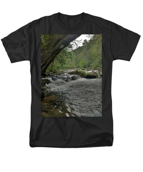 Mountain Stream Men's T-Shirt  (Regular Fit) by Janice Spivey