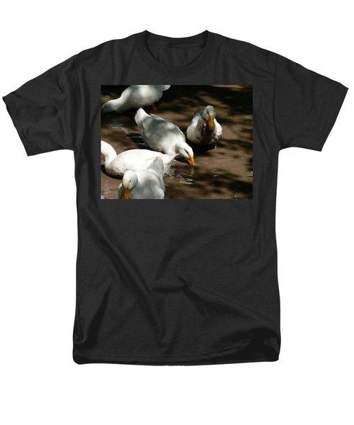 Men's T-Shirt  (Regular Fit) featuring the photograph Muddy Ducks by Laurel Best