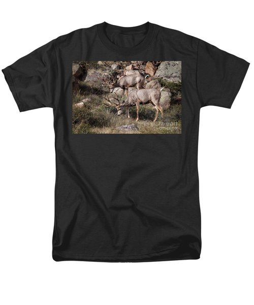 Mule Deer Bucks Men's T-Shirt  (Regular Fit) by Ronald Lutz