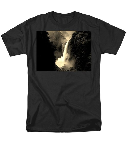 Mystery Falls Men's T-Shirt  (Regular Fit) by Ellen Heaverlo