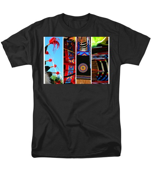 Slices Of Native American Heritage Men's T-Shirt  (Regular Fit) by Toni Hopper