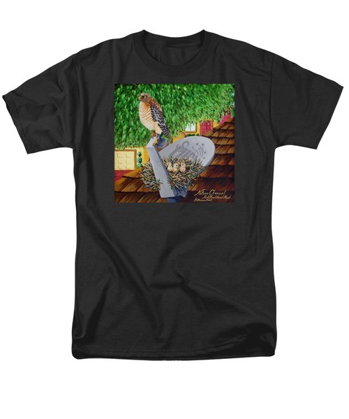 Nature Channel- Red Shouldered Hawk Men's T-Shirt  (Regular Fit) by Katherine Young-Beck