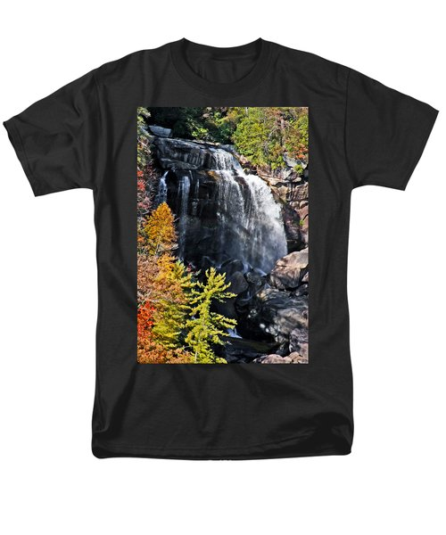 Nc Waterfalls Men's T-Shirt  (Regular Fit) by Ronald Lutz