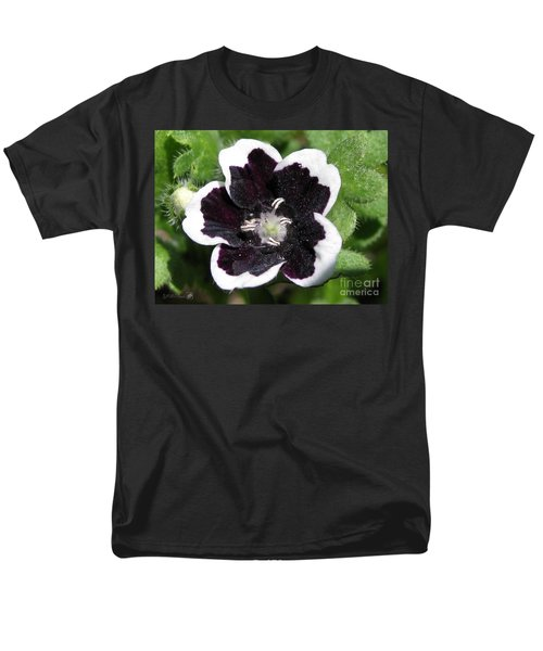 Men's T-Shirt  (Regular Fit) featuring the photograph Nemophilia Named Penny Black by J McCombie