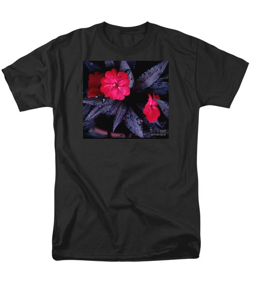 Men's T-Shirt  (Regular Fit) featuring the photograph New Guinea Impatiens by Tom Wurl
