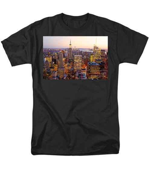 Men's T-Shirt  (Regular Fit) featuring the photograph New York City by Luciano Mortula