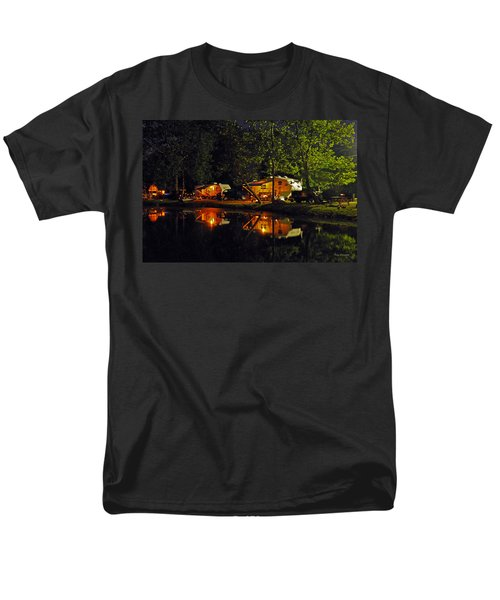 Nighttime In The Campground Men's T-Shirt  (Regular Fit) by Kay Lovingood