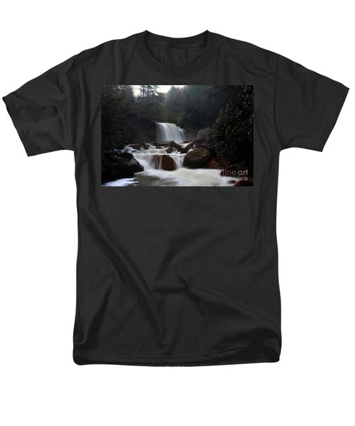 Men's T-Shirt  (Regular Fit) featuring the photograph North Forks Waterfalls by Dan Friend