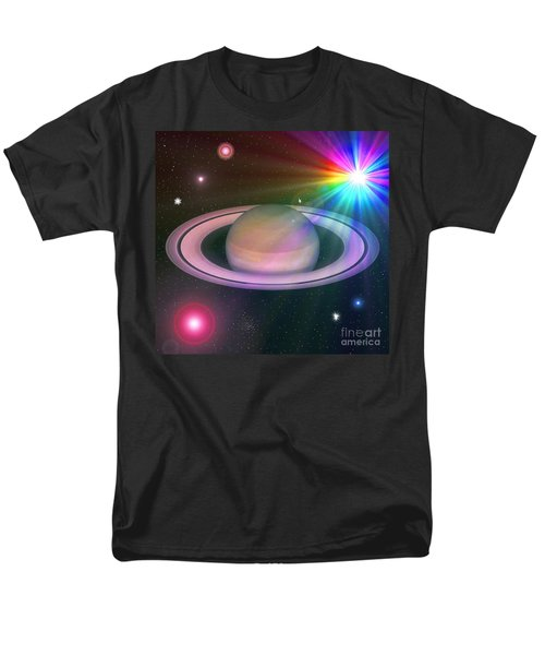 Men's T-Shirt  (Regular Fit) featuring the digital art Nova Rainbow by Greg Moores