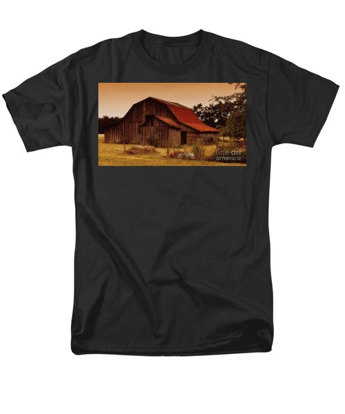 Men's T-Shirt  (Regular Fit) featuring the photograph Old Barn by Lydia Holly