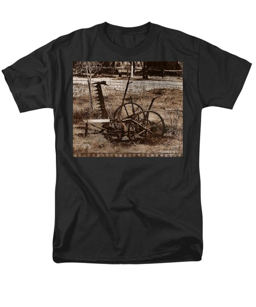 Men's T-Shirt  (Regular Fit) featuring the photograph Old Farm Equipment by Blair Stuart