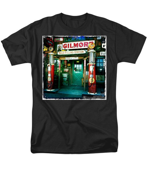 Men's T-Shirt  (Regular Fit) featuring the photograph Old Fashioned Filling Station by Nina Prommer