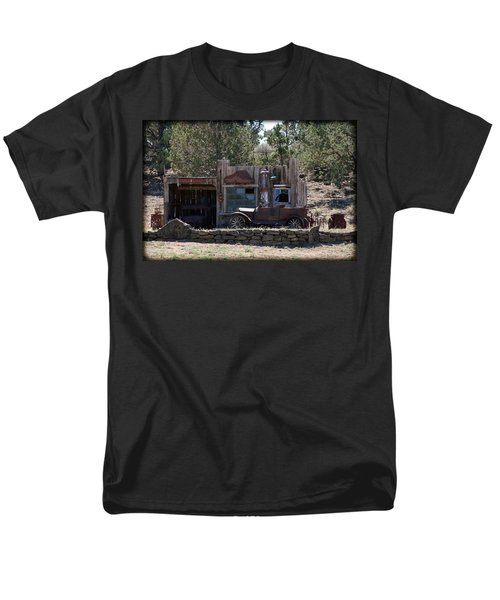 Men's T-Shirt  (Regular Fit) featuring the photograph Old Filling Station by Athena Mckinzie
