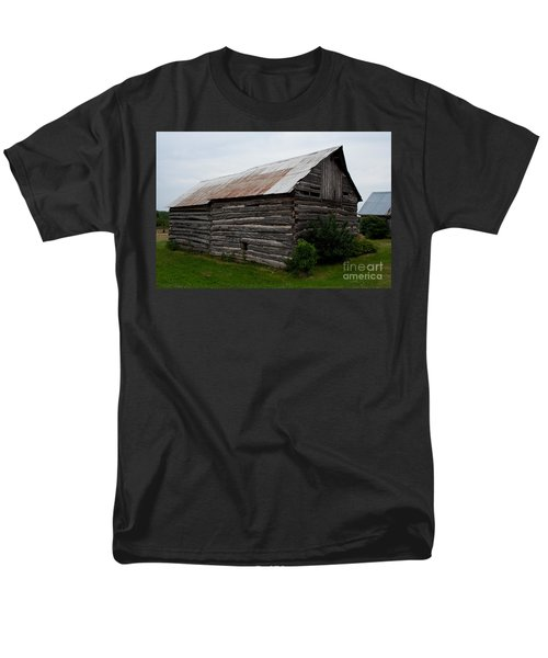 Men's T-Shirt  (Regular Fit) featuring the photograph Old Log Building by Barbara McMahon